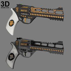 3D Printable Model: 3D Printable Harley Quinn's Revolver Gun from Suicide Squad | Print File Formats: STL OBJ – Do3D.com