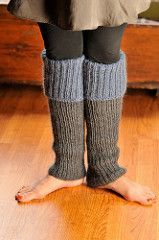 """Pattern description from Last-Minute Knitted Gifts: """"These leg warmers are cozy and soft and look great under a skirt. Part of the reason I am so happy with them is the yarn combination: a basic worsted-weight merino, Cascade 220, that comes in a huge variety of colors, and a laceweight kid mohair-silk blend, Madil Kid Seta, that keeps the leg warmers from feeling itchy and gives the color more depth."""""""