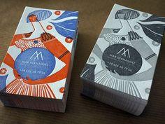 Unique Business Card Design on the Internet, Mar Hernandez #businesscards #namecards #printdesign