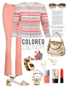 """""""spring colored denim"""" by rousou on Polyvore featuring Charlotte Russe, Haze, MAC Cosmetics and Majorica"""
