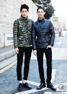 Reversible camo jacket. #mensfashion (Hyeong Seop)