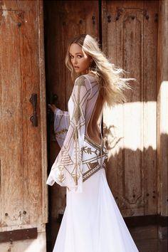 Lace wedding dress Bridal Gowns, Wedding Gowns, Backless Wedding, Lace Wedding, Transparent Dress, Bohemian Wedding Dresses, Boho Bride, Moda Boho, Estilo Boho