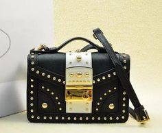 Prada Saffiano Leather Flap Bag BN0969 Black&White Prada Saffiano, Prada Bag, Shoulder Strap, Shoulder Bags, Leather Backpack, Handbags, Purses, Black And White, Gucci