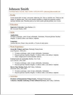 resume template resume templates job resume resume ideas free resume