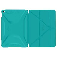 roocase Apple iPad Air 2 Origami 3D Case - Turq Blue/Mint Candy (RC-Apl-AIR2-OG-SS-TB/MC)