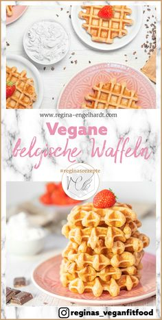 "Yes, please ! Here's a recipe that makes the waffles crispy on the outside and fluffy on the inside. More from my siteBelgian waffles ""the special"" – KuchenBelgian waffles by chocolate fetish Waffle Recipes, Ice Cream Recipes, Vegan Recipes, Food Cakes, Waffel Vegan, Punch Bowl Cake, Easy Vanilla Cupcakes, Quick Healthy Desserts, Cupcake Recipes"