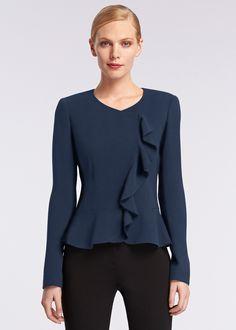 Finesse Crepe Maritza Jacket : Womens Jackets & Designer Coats | Lafayette148ny.com | Lafayette 148 New York