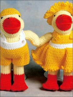 #Free Pattern; crochet; Lewis and Lucy Ducks  ~~