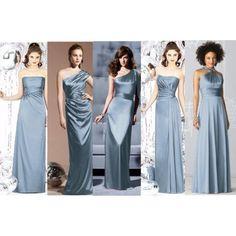slate blue bridesmaid dresses - Google Search