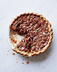 Bourbon-Pecan Pie Recipe - This easy pecan pie tastes of dark caramel, toasted nuts and a little bit of bourbon.