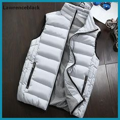 Mens Jacket Sleeveless Vest Winter Fashion Casual Slim Coats Brand Clothing Cotton-Padded Men's Vest Men Waistcoat Big Size 666