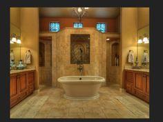 Walk in shower behind tub