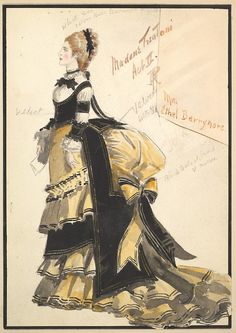 """fripperiesandfobs: Costume design by Percy Anderson for """"Madame Trentoni"""", 1901 From the Metropolitan Museum of Art"""
