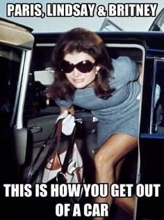 Paris, Lindsay And Britney: This Is How You Get Out Of A Car Jackie-O Style!