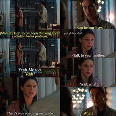 """""""I've been thinking about a solution to our problem. Run for our lives"""" - Mon-El and Kara #Supergirl"""