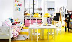 fun playroom - IKEA  Such great design using Ikea