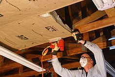 Stapling Insulation To Garage Roof Trusses