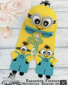 Baby romper set Newborn boy romper overalls Outfit beige overall Baby diaper cover Baby home outfit Baby expecting idea teddy bear overall Minion Crochet Patterns, Crochet Kids Hats, Crochet Beanie, Crochet Scarves, Crochet Shawl, Knitted Hats, Baby Kind, Baby Knitting, Embroidery Patterns