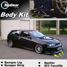 Bumper Lip Deflector Lips For Nissan Almera / Tino Front Spoiler Skirt For TopGear Friends Car Tuning View / Body Kit / Strip - Car Toys Store | Accessories, Car Camera, Car Video Players, Audio, Car DVRs