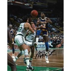 """Mounted Memories Los Angeles Lakers Magic Johnson Autographed 8"""" x 10"""" Photo"""