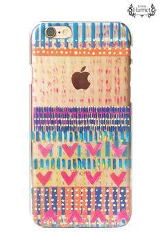 iPhone 6 clear printed case - Colour Contour