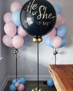 Gender Reveal Decorations, Baby Shower Decorations, Baby Reveal Cakes, Gender Party, Ideas Para Fiestas, Reveal Parties, Baby Party, Boy Or Girl, Balloons