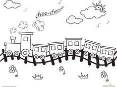 Worksheets: Choo-Choo Train Coloring Page