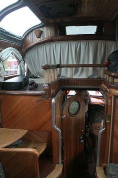 inside of truck, like a ship