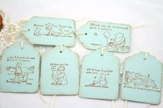 Winnie the Pooh Tags Favor Tags Baby Shower by seasonaldelights, $5.95