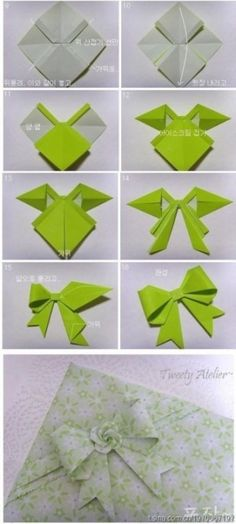 How To Make Butterfly Origami Paper Bows | DIY Tag