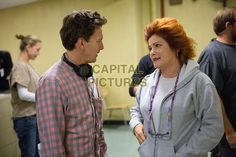 Director Andrew McCarthy and Kate Mulgrew on the set of  Orange Is the New Black (2014)  (Season 2)   Image supplied by Netflix/Capital Pictures
