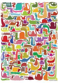 Affiche, 239 dinosaures A087 : Affiches, illustrations, posters par la-parenthese-enchantee