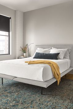 5988ad0a0b5a4f Hanson Bed. Modern upholstered bed. Room & Board Modern Furniture