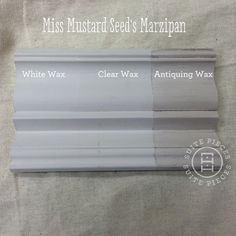 Miss Mustard Seed's Milk Paint in Marzipan With Antiquing Wax, White Wax and Clear Wax! | Suite Pieces