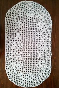 Kirini ručni radovi: Oval tablecloth