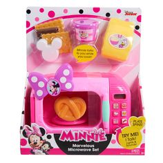 Disney Minnie Mouse Happy Helpers Marvelous Microwave Set - image 1 of 3 Little Girl Toys, Baby Girl Toys, Toys For Girls, Kids Toys, Minnie Mouse Kitchen, Mickey Mouse Toys, Minnie Mouse Stuff, Minnie Bow, Best Kids Watches