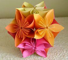 Artes by Rosa Natalia: Flor em origami - passo a passo                                                                                                                                                                                 Mais