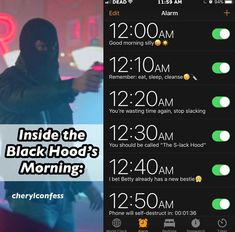Inside the Blackhood's morning