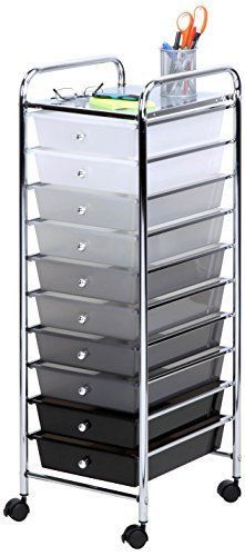 Craft Carts  Storage Cart  Drawers Art Hobby Organizer Office Furniture With Wheels