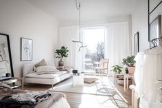 A Small Swedish Space Bathed in Sunlight