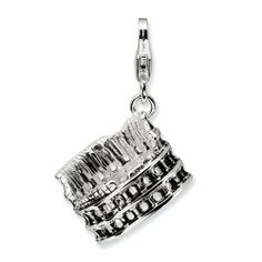 Amore LaVita Sterling Silver Antiqued Colliseum w/Lobster Clasp Bracelet Charm Charm Jewelry, Jewelry Gifts, Fine Jewelry, 3 D, Jewelry Collection, Sterling Silver, Antiques, Pendant, Lobster Clasp