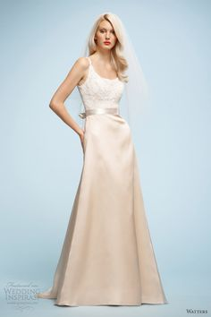 watters 2013 color wedding dresses leonor ivory blush gown