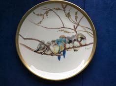 Piatto con uccelli Porcellane Verona dipinte a mano