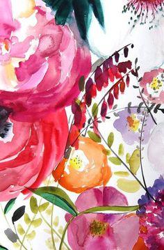 Bloom - Floral Illustration - Art Watercolor