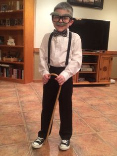 Here's my 100 year old man dressed to celebrate his 100th day of school