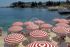 Antibes, France on the Mediterranean Coast Plages de la garoupe!!!  We stayed under the yellow umbrellas!