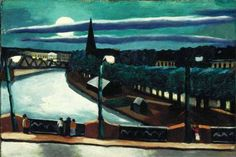 Max Beckmann - Mondlandschaft (Moon Landscape), 1925. Oil on canvas, 40 x 59.7 cm. San Diego Museum of Art, California, USA