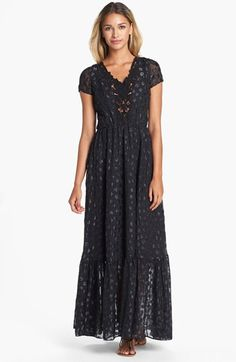 Dress+the+Population+'Evan'+Metallic+Dot+Maxi+Dress+available+at+#Nordstrom