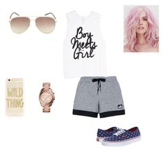 """""""Sem título #85"""" by adriene-guimaraes ❤ liked on Polyvore featuring adidas, Vans, Michael Kors, Sonix and Marc Jacobs"""