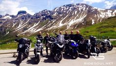 The ritual picture after a funny ride at the Pordoi Pass! #motorcycle #tour #italy